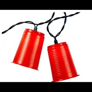 NIB - Red cup party lights, indoor outdoor use